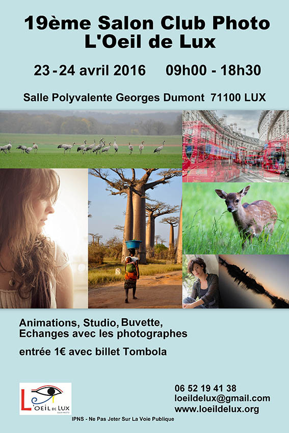 19ème SALON DE LA PHOTO à Lux Salon Lux 2016