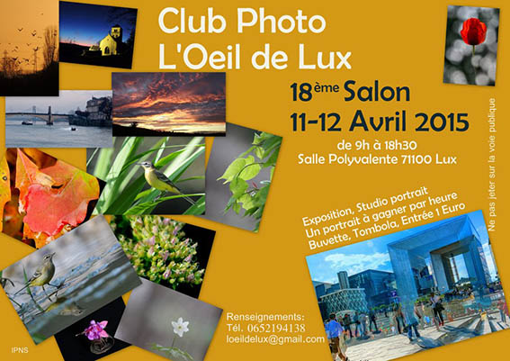 "SALON Expo DE LA PHOTO ""L'Oeil de Lux"" 2015 Affiche-salon-photo-Lux-2015"